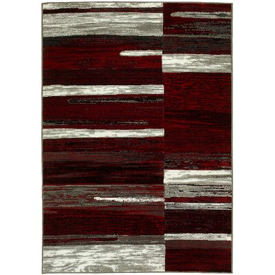 Kian Red/Gray Area Rug