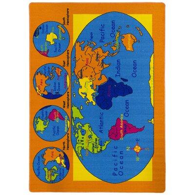 Jaydon Orange/Blue Area Rug
