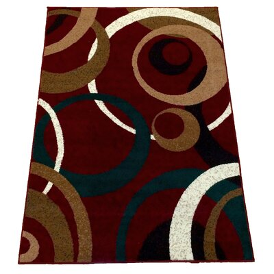 Damia Geometric Red Area Rug