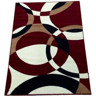 Daisi Contemporary Red Area Rug