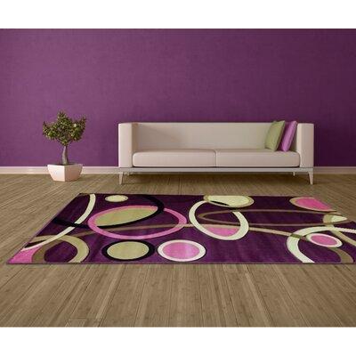 Ladonna Lilac Area Rug Rug Size: 4 x 6
