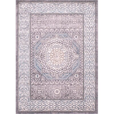 Key Rectangle Ash Area Rug