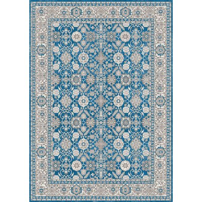 Brigette Antique Ocean Blue Area Rug