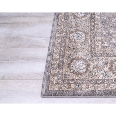 Berneen Traditional Floral Ash Area Rug