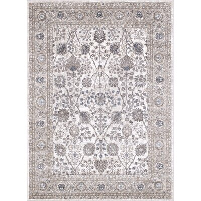 Berneen Traditional Floral Tusk Area Rug