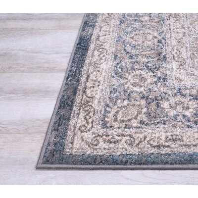 Berneen Traditional Oriental Rectangle Ash Area Rug