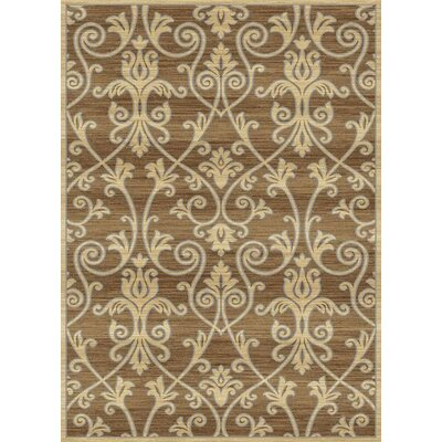 Audric Floral Cappuccino Area Rug