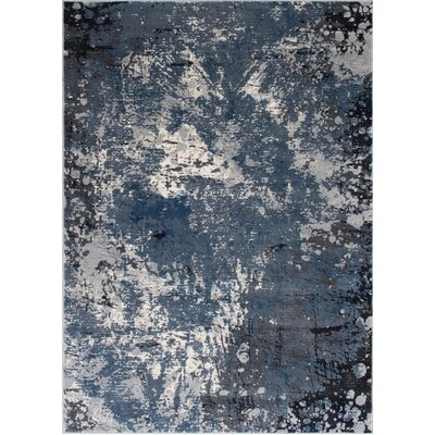 Fayanna Abstract Style Gray/Blue Area Rug