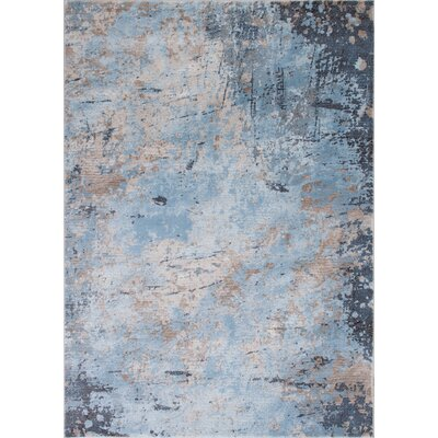 Fantine Abstract Ice Blue Area Rug