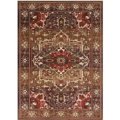 Homedics Bohemian Light Brown Area Rug