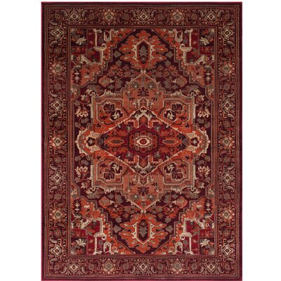 Homedics Bohemian Red Rust Area Rug