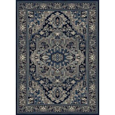 Medina Bohemian Style Thunder Blue Area Rug