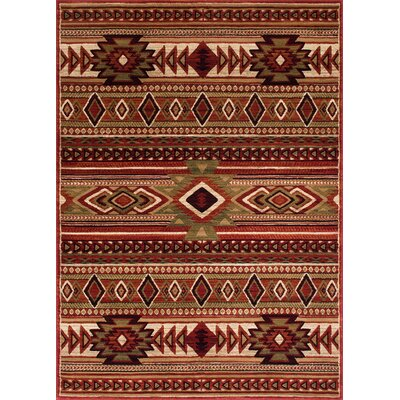 Cima Tribal Style Red Rust Area Rug