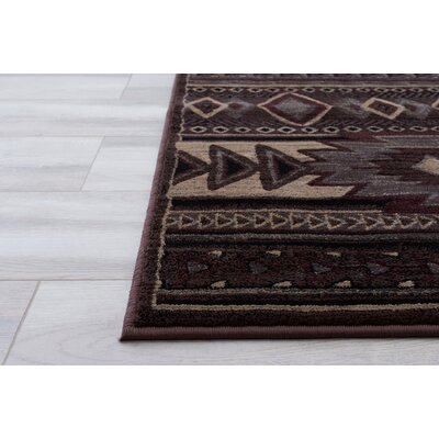 Cima Tribal Style Brown Area Rug