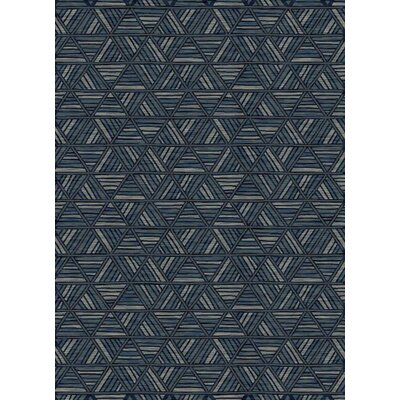 Jaymes Geometric Thunder Blue Area Rug