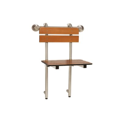 Lifestyle & Wellness 18 x 16 Wall Hanging Shower Chair with 18 Grab Bar