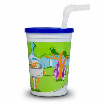Monsters in the Park Reusable 12 oz. Plastic Kid Cup with Lid and Straw S30312CP-Monsters50-WF