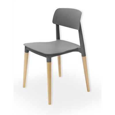 Lucent Solid Wood Dining Chair Finish: Gray