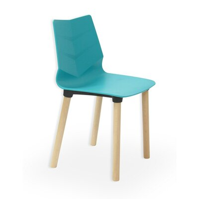 Foliage Solid Wood Dining Chair Finish: Turquoise