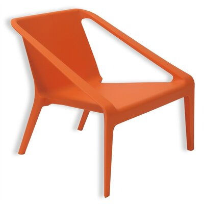 Lovely Armchair Finish: Orange