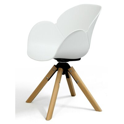 Wild Orchid Solid Wood Dining Chair Finish: White