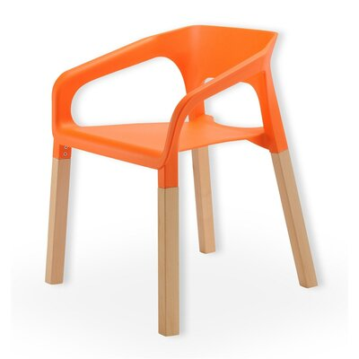 Symphony Solid Wood Dining Chair Finish: Orange