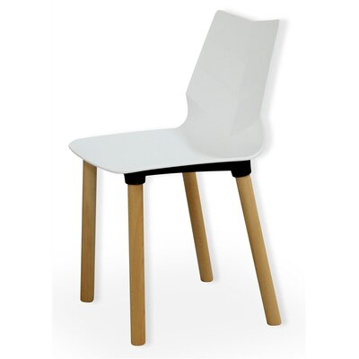 Foliage Solid Wood Dining Chair Finish: White