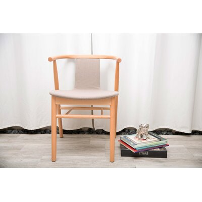 Lotus Genuine Leather Upholstered Dining Chair