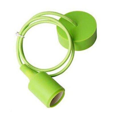 Rainbow String 1-Light Mini Pendant Finish: Green