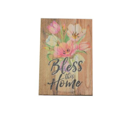 Bless Home Sign
