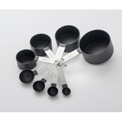 8 Piece Stainless Steel/Plastic Measuring Spoon/Cup Set F25