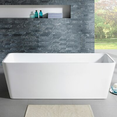Norris 67 x 30 Freestanding Soaking Bathtub