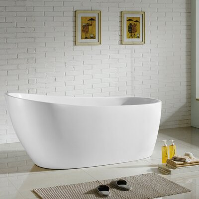 Covina 67 x 22 Freestanding Soaking Bathtub