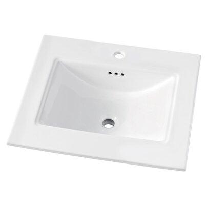 Brighton 25 Single Bathroom Vanity Top Faucet Mount: Single Hole