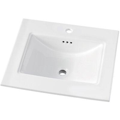Brighton 31 Single Bathroom Vanity Top Faucet Mount: Single Hole