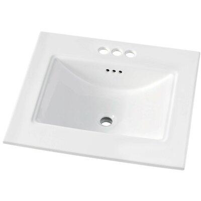 Brighton 31 Single Bathroom Vanity Top Faucet Mount: 4 Centerset