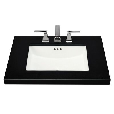 Bristol Rectangular Undermount Bathroom Sink with Overflow Sink Finish: Biscuit