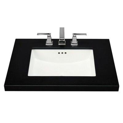 Bristol Ceramic Rectangular Undermount Bathroom Sink with Overflow Sink Finish: Biscuit