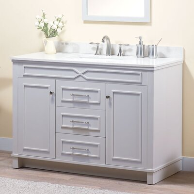 Abigail 48 Bathroom Vanity Base Base Finish: French Gray