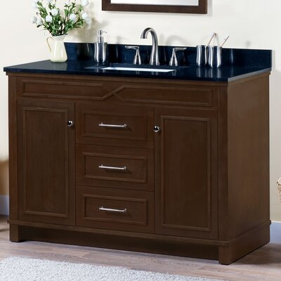 Abigail 48 Bathroom Vanity Base Base Finish: American Walnut