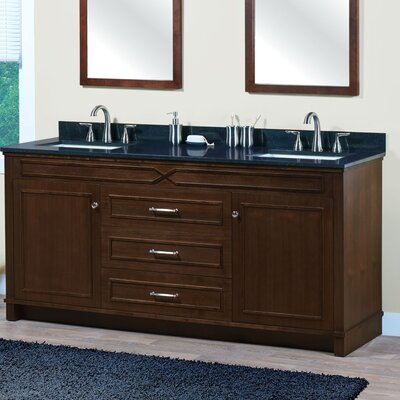 Abigail 72.06 Bathroom Vanity Base Base Finish: American Walnut