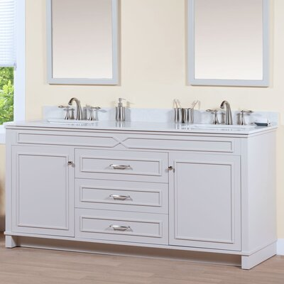 Abigail 72.06 Bathroom Vanity Base Base Finish: French Gray
