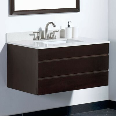 Dani 36 Bathroom Vanity Base Base Finish: Chocolate Birch