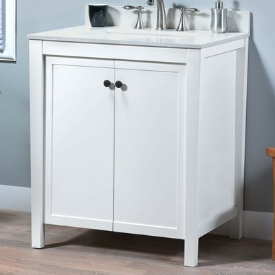 Nessa 30 Bathroom Vanity Base Base Finish: White