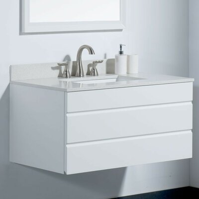Dani 36 Bathroom Vanity Base Base Finish: White