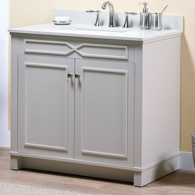 Abigail 36 Single Bathroom Vanity Base Base Finish: French Gray