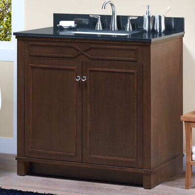 Abigail 36 Single Bathroom Vanity Base Base Finish: American Walnut