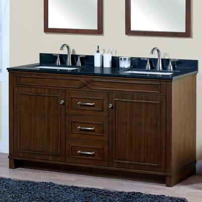 Abigail 60 Bathroom Vanity Base Base Finish: American Walnut