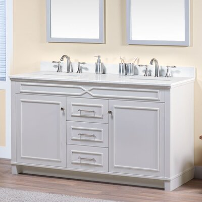 Abigail 60 Bathroom Vanity Base Base Finish: French Gray