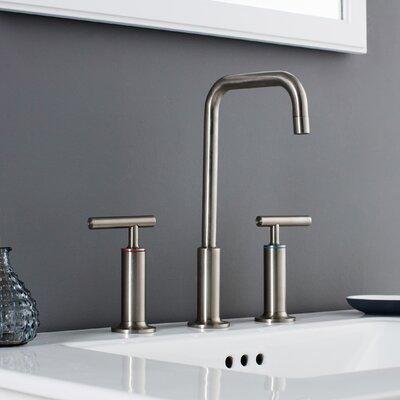Prelude 3 Piece Widespread Wrist Blade Handle Bathroom Faucet Set Finish: Brushed Nickel